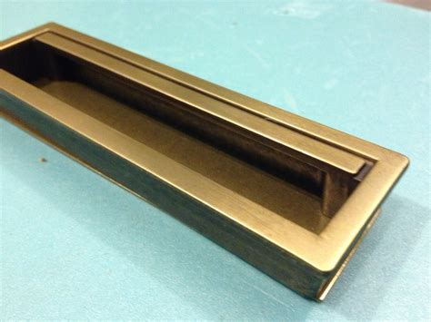 1 recessed drawer pull mid century style drawer pull