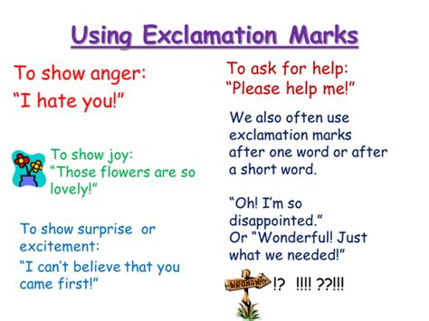 exclamation marks  pumpkinsoup teaching