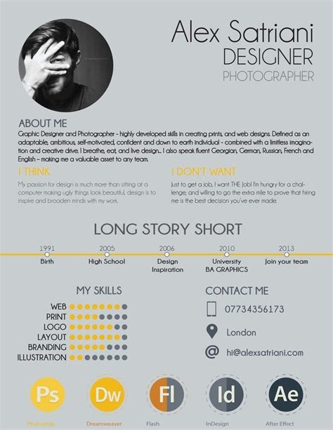 Graphic Designer Cv Exles Uk by 7 Resume Design Principles That Will Get You Hired 99designs