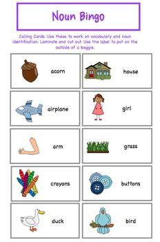 noun bingo   autism helper teachers pay teachers