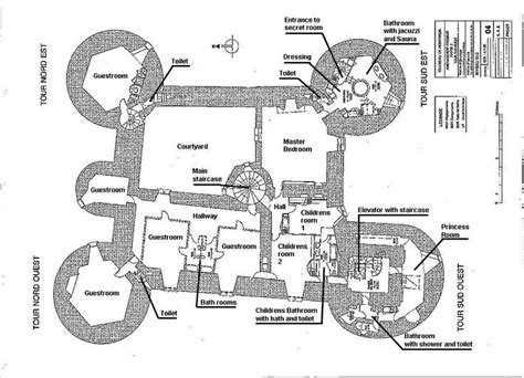 floor plan   level medieval castle de montbrun dournazac haute vienne france