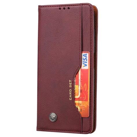 card set series xiaomi poco  nfc wallet case wine red