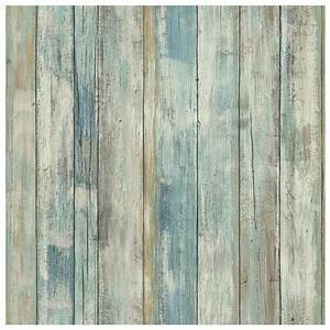 Roommates Faux Distressed Wood Peel & Stick Wall Decal (2