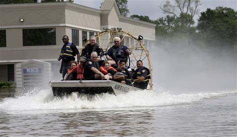 Airboat Houston by Houston Area Texans Cope With Historic Flooding