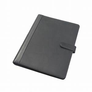 hasp lock a4 leather covered file folder ring binder With document holder folder