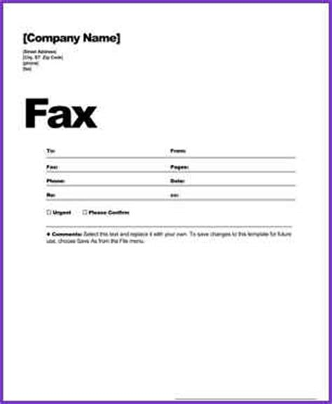 fax cover letter sample free