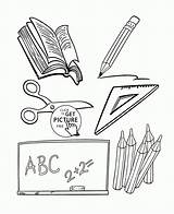 Objects Coloring Pages Printables Wuppsy Easy Printable Azcoloring Subjects Az Sheets Template Sketch Credit Larger Colorful sketch template