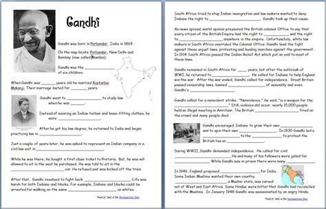 ghandi worksheet gandhi free worksheets notebook pages homeschool den
