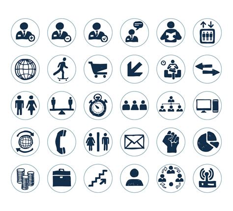 14701 business icon vector business icon pack vector