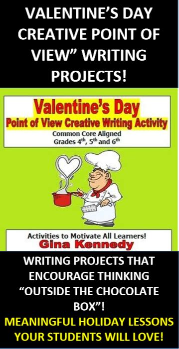 valentines day point  view creative writing project