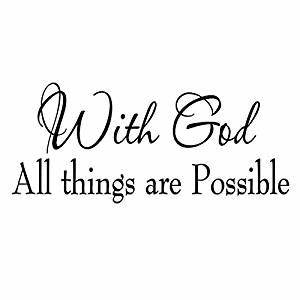 Amazon com: With God All Things Are Possible Faith Wall