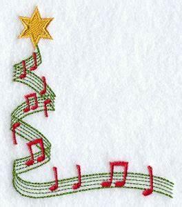 Christmas Music Border Clipart – Happy Holidays