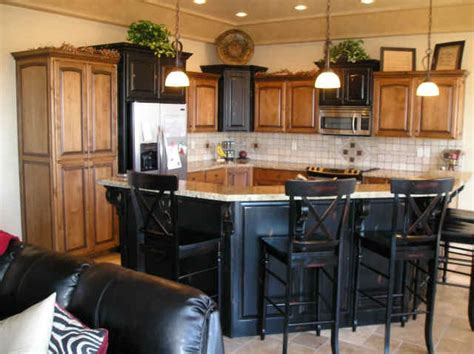 black kitchen island with seating alder cabinets beautiful black kitchen island with bar 7885