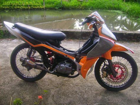 Modifikasi Supra X 100cc Drag Thecitycyclist