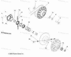 Polaris Side By Side 2009 Oem Parts Diagram For Drive Train  Secondary Clutch