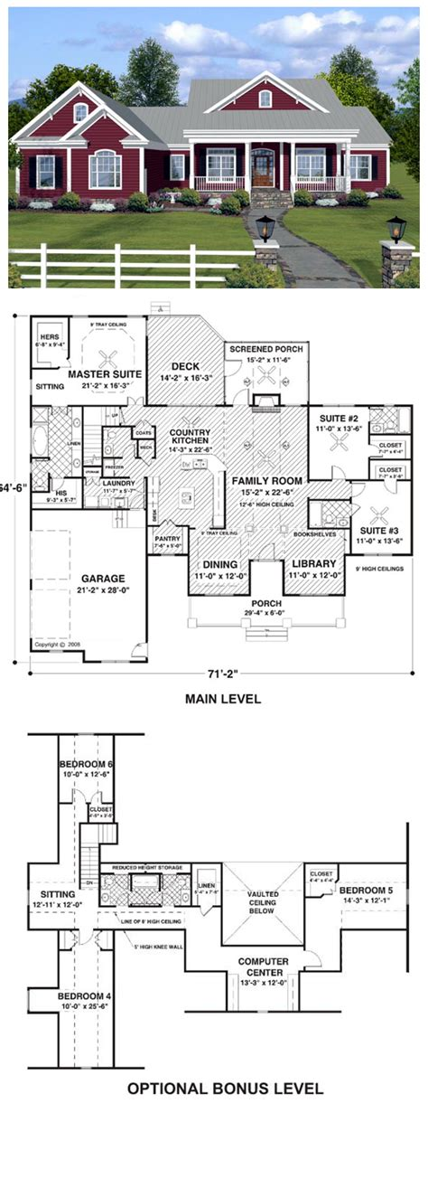 3 bedroom country house plans house plan 74834 total living area 2294 sq ft 3