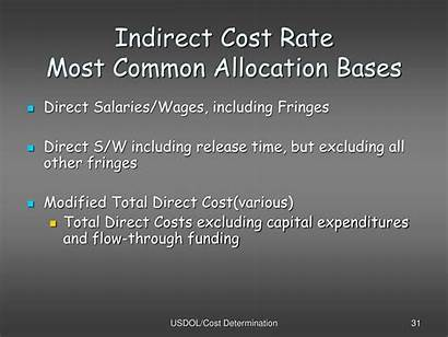 Cost Indirect Rate Allocation Costs Common Applying