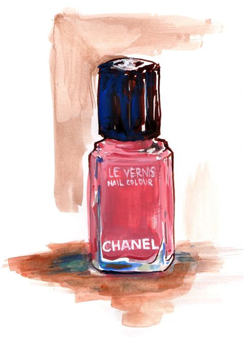 quick study  chanel watercolor gouache  ink