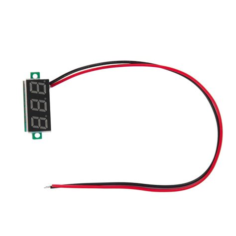 led dc 4 0 30v blue volt voltage meter display 2 wire digital voltmeter ebay