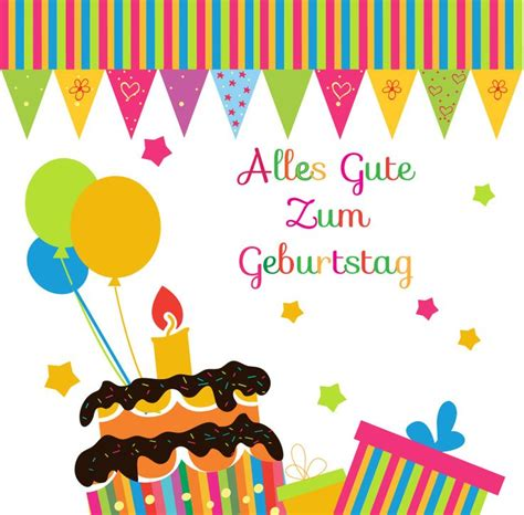 happy birthday  german cards happy birthday  german