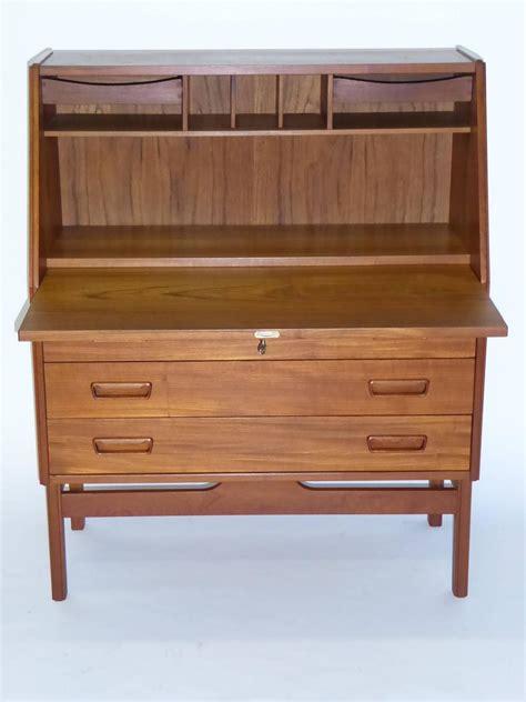 drop front secretary desk 1960s danish teak drop front secretary desk by dyrlund at