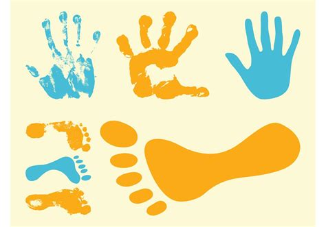 Footprints And Hand Prints