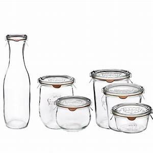 Bocaux En Verre Pour Conserves : formidables bocaux en verre avec couvercle weck ~ Nature-et-papiers.com Idées de Décoration