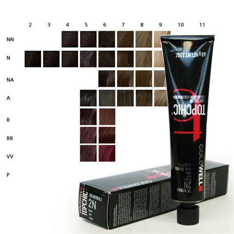 goldwell topchic permanent hair color tubes  oz