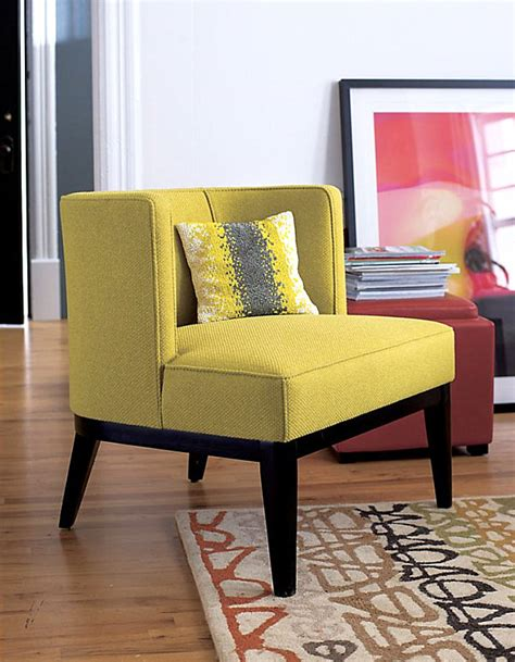 fabulous citron yellow chair on wood floor at artistic