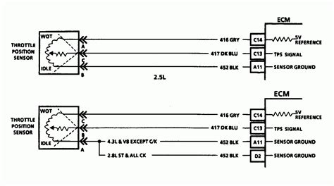 Sensor Wiring Diagram 2008 F250 by Gm Throttle Position Sensor Wiring Library Of Wiring