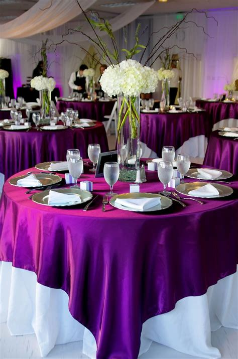 Purple And White Decoration For Wedding by Purple Silver And White Wedding Table Decorations