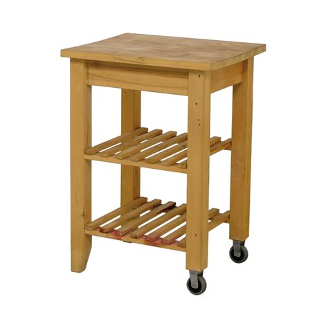 66% Off  Ikea Ikea Butcher Block Kitchen Cart With