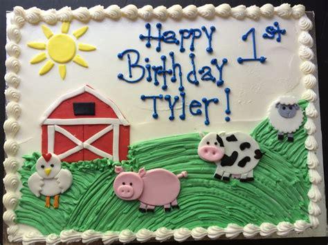 Farm Animal  Barnyard Cake  Kiddie Cakes Pinterest