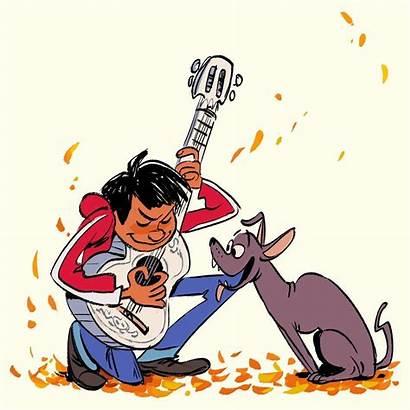 Coco Dante Miguel Pixar Soundtrack Fanart Drawing
