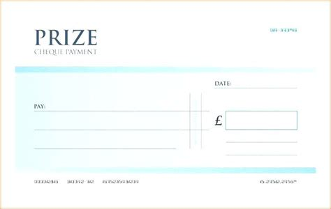 Mock Cheque Template Download Blank Check Free Word Joke