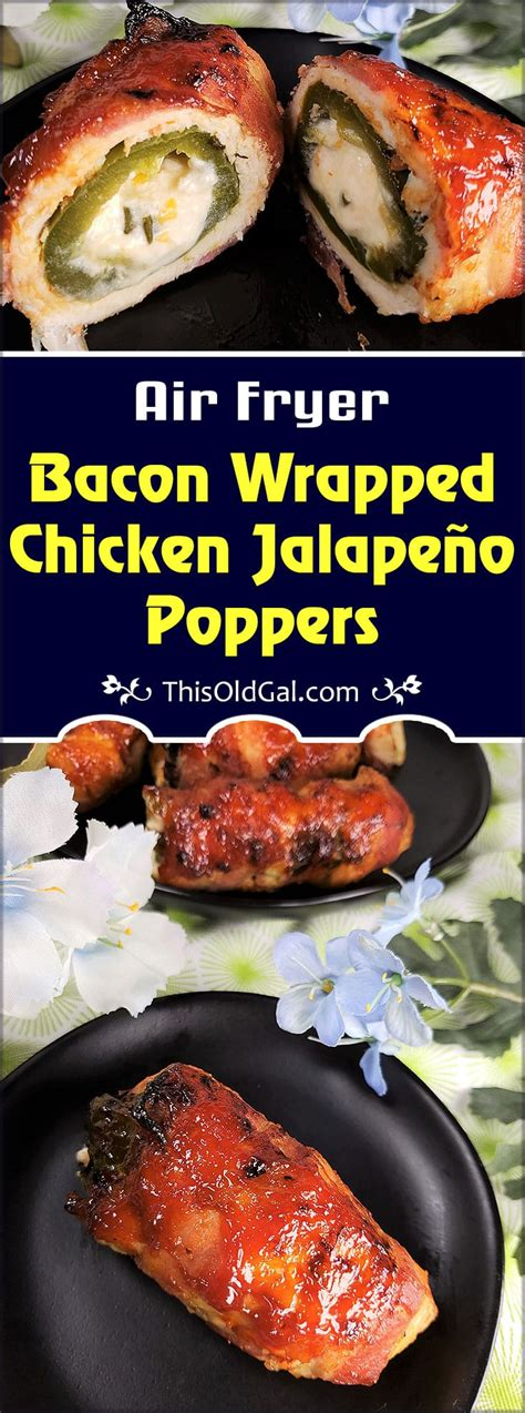 fryer air bacon wrapped poppers chicken jalapeno jalapeno
