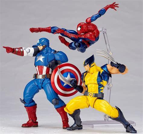 revoltech marvel captain america figure wolverine kaiyodo order toy spider