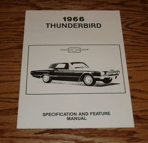 ford thunderbird specification feature manual  ebay