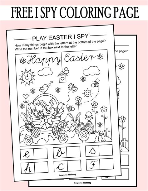 easter i spy coloring page printable worksheet bloggers