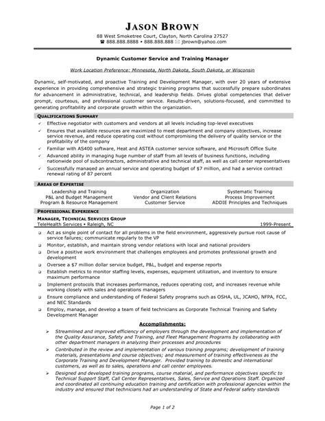 Customer Service Representative Resume Qualifications by Exle Of Customer Service Resume Objective