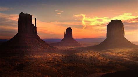 Desert Rock Stone Landscapes Sunset Wallpaper 1920x1080