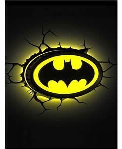 Batman Logo 3D LED Wall Light Lighting Bedroom Night
