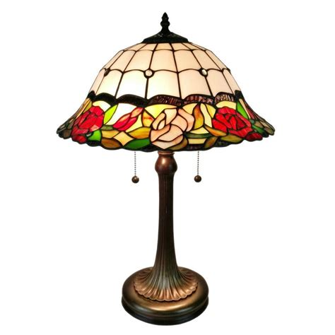 double lit tiffany style ls amora lighting 23 in tiffany style floral table l with