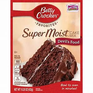 Betty Crocker Supermoist Devil Food Cake Mix - 18.25oz ...