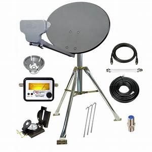 Directv Compact Portable Satellite Dish Tripod Kit For Rv
