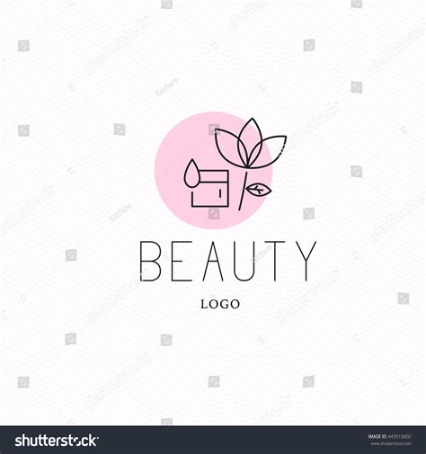 cosmetic logo design template brand stock illustration 443513002