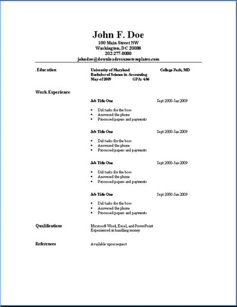 Outline Of Resume by Best 25 Resume Outline Ideas On Resume
