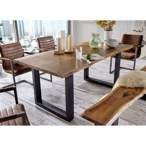 union rustic lemay modern  edge solid wood dining