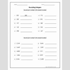 Round Each Number To The Nearest Hundred Worksheet