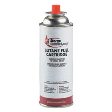 Sterno Candle L Butane Stove by Sterno Butane Cartridge Can 8oz Ste50100 Restockit